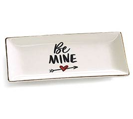 BE MINE HEART WITH ARROW VALENTINE TRAY