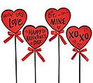 RED  BLACK HEART PICK WITH ASTD MESSAGE