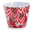 "4"" HEARTBREAKER MELAMINE POT COVER"