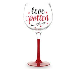 LOVE POTION STEMMED WINE GLASS