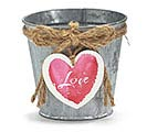 PINK LOVE HEART DANGLE POT COVER