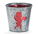 "4""VALENTINE CUPID SILHOUETTE POT COVER"