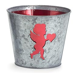 LASER CUTOUT CUPID POT COVER
