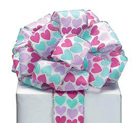 RIBBON #40 PASTEL HEARTS