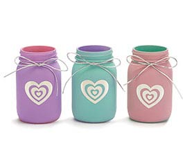 PINT SIZE MASON JAR GLASS VALENTINE