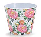 "4"" BLISSFUL FLOWER MELAMINE POT COVER"