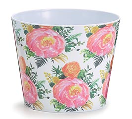 "6"" BLISSFUL FLOWER MELAMINE POT COVER"