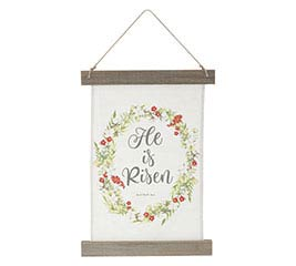 HE IS RISEN FABRIC WALL HANGING