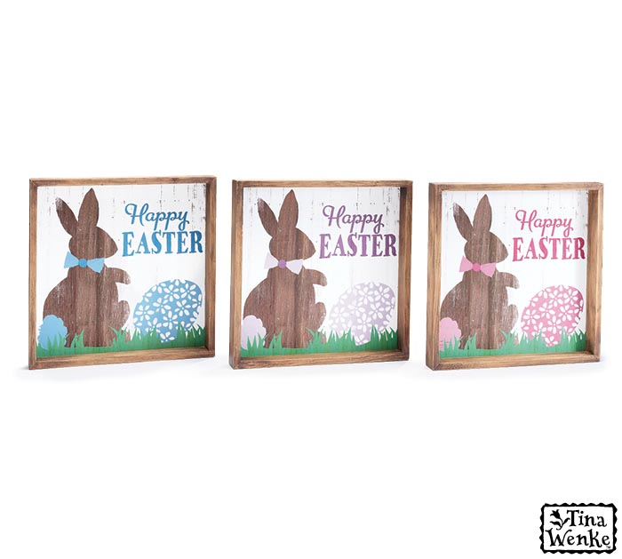 HAPPY EASTER WOODEN WALL HANGING