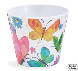 "4"" BUTTERFLY BLESSING MELAMINE POT COVER"