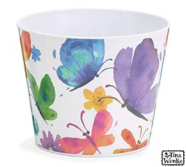 "6"" BUTTERFLY BLESSING MELAMINE POT COVER"
