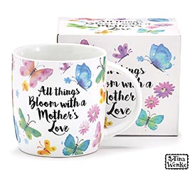 MUG ALL THINGS BLOOM WITH A MOTHERS LOVE