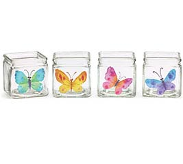 BUTTERFLY BLESSINGS GLASS CUBES ASTD
