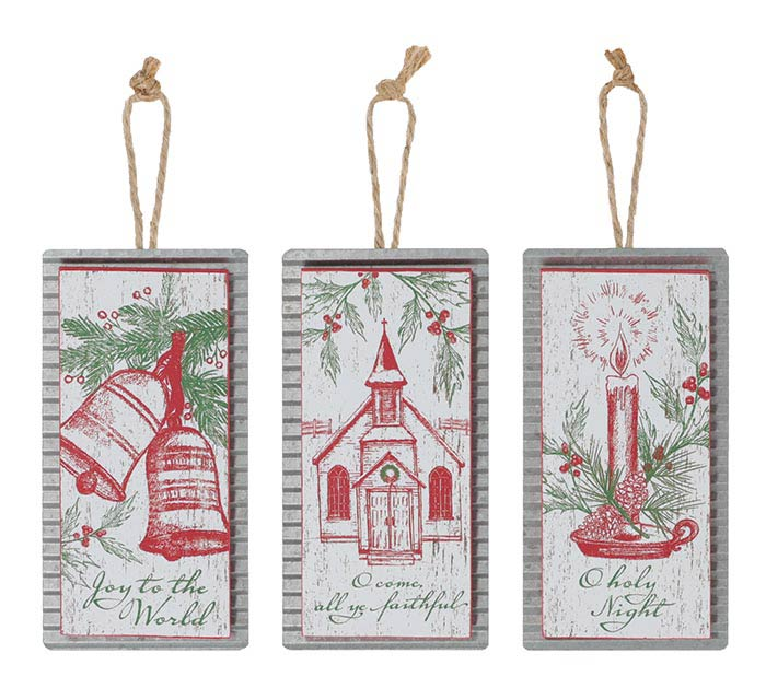 CHRISTMAS ORNAMENT ASTD WITH MESSAGES