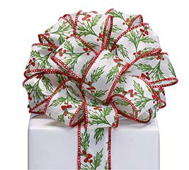 RIBBON #9 CHRISTMAS HOLLY