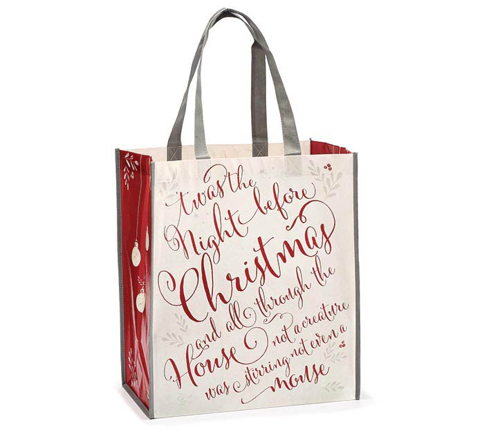 TWAS THE NIGHT BEFORE CHRISTMAS TOTE