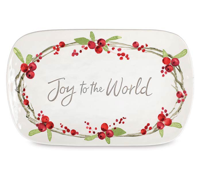 JOY TO THE WORLD MESSAGE PLATTER