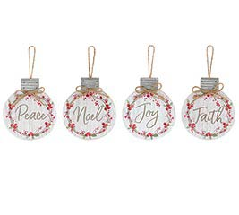 RED BERRY WREATH ORNAMENT ASSORTMENT