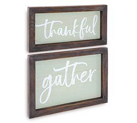THANKFUL/GATHER WALL HANGING SET