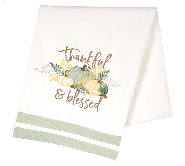 PRECIOUS PUMPKINS THANKFUL TABLE RUNNER