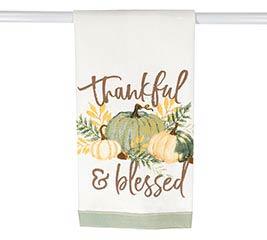 PRECIOUS PUMPKINS THANKFUL TEA TOWEL