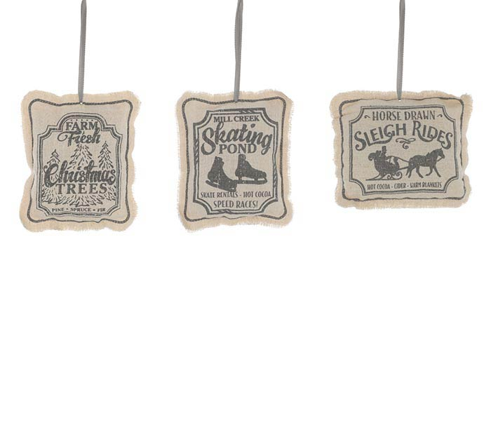 ASSORTED MESSAGE PILLOW ORNAMENTS