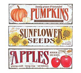 ASSORTED FALL WALL HANGINGS