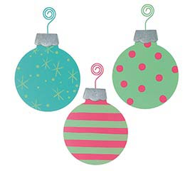 BRIGHT COLOR TIN ORNAMENT ASSORTMENT