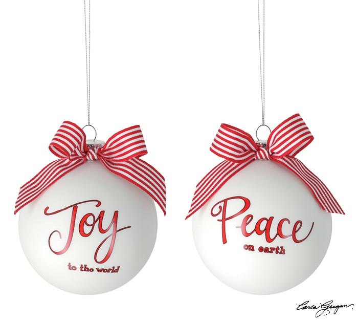 "4"" PEACE AND JOY ASSORTED ORNAMENTS"