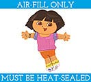 "14""FLAT DORA THE EXPLORER MINI SHAPE"