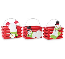 SNOWMAN CRATE ASSORTMENT
