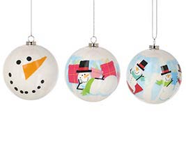 "3"" SNOWMAN ORNAMENTS IN GIFT BOX"
