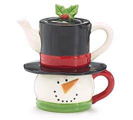 SNOWMAN HEAD SHAPE TEA FOR ONE