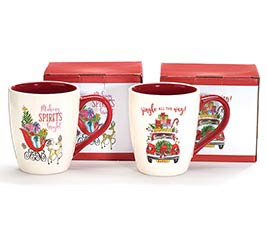 CHRISTMAS SCENE ASSORTMENT MUGS