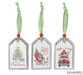 CHRISTMAS SCENE TAG ORNAMENT SET