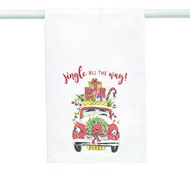 """JINGLE ALL THE WAY"" TEA TOWEL"