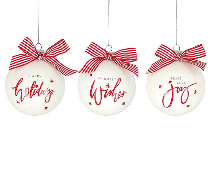 ASSORTED CHRISTMAS PHRASES ORNAMENTS
