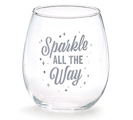 SPARKLE ALL THE WAY STEMLESS WINE GLASS