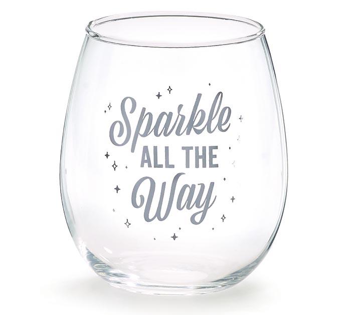 114f0503cc5 SPARKLE ALL THE WAY STEMLESS WINE GLASS