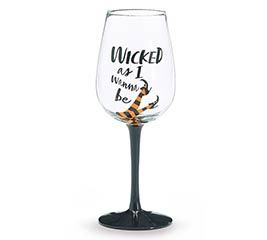 WICKED AS I WANNA BE WINE GLASS
