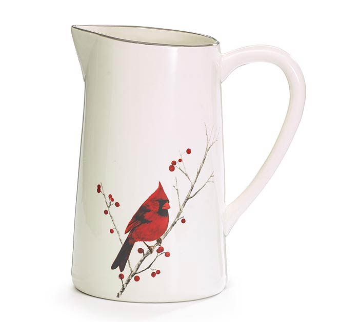 RED CARDINAL PITCHER