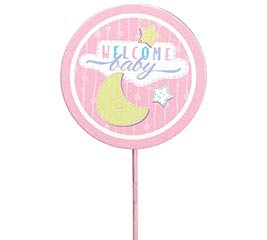 WELCOME BABY GIRL PICK MOON  STARS