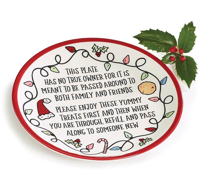 CHRISTMAS SHARING MESSAGE PLATE