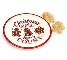 CHRISTMAS CALORIES DON'T COUNT PLATE