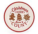 CHRISTMAS CALORIES DON'T COUNT PLATE 1st Alternate Image