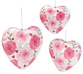 HEART SHAPE VALENTINE FLORAL ORNAMENTS