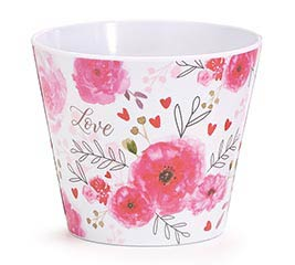 "4"" LOVE'S BLUSH MELAMINE POT COVER"