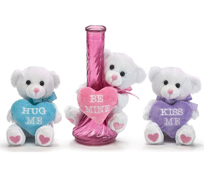 VALENTINE ASSORTED MESSAGE VASE HUGGER
