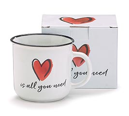 MUG RED HEART (LOVE IS ALL YOU NEED