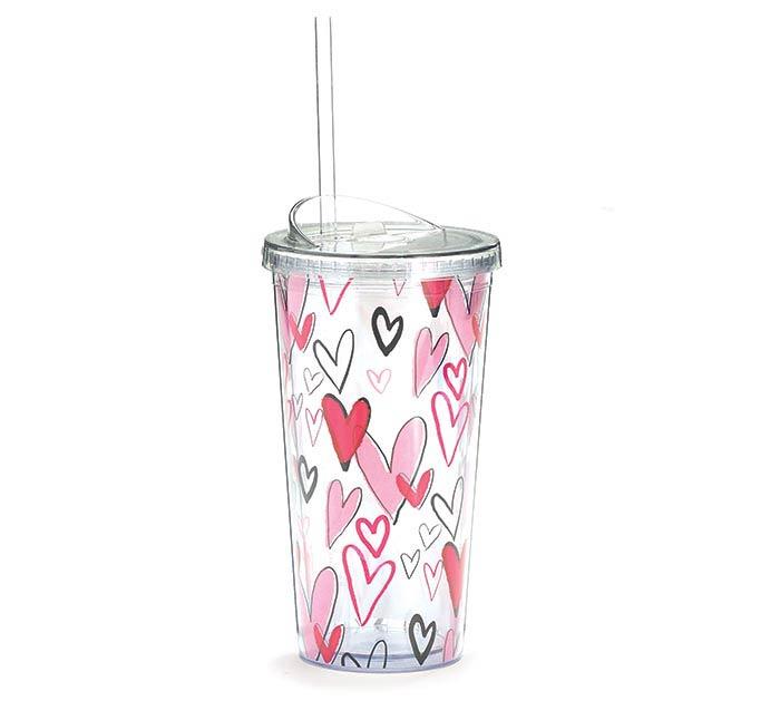 VALENTINE GRAFFITI HEARTS TRAVEL CUP